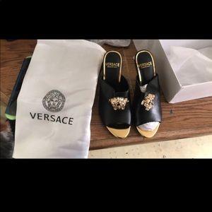 Versace point toe heels